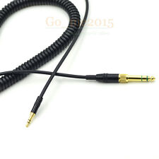 Extended DJ Coiled Audio Cable For Philips SHP9500 SHL5505 SHL5705 Headphone 3.5