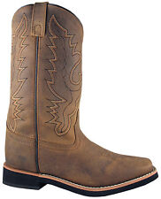 Smoky Mountain Boots Womens Pueblo Dark Crazy Horse Leather Square Toe