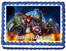 THE AVENGERS Image Edible Cake topper party decoration