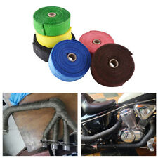 10M Motorcycle ATV Car Exhaust Header Pipe Heat Wrap Roll Tape Glass Fiber AP