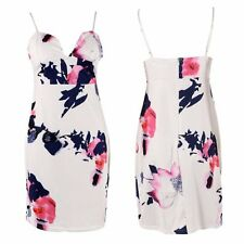 Summer Floral Bodycon Strap V-Neck Bandage Womens Mini Dress Maxi Party Cocktail