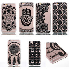 Fashion Ultra Thin Henna Pattern Soft TPU Case Cover For iPhone 7/7+ Samsung New