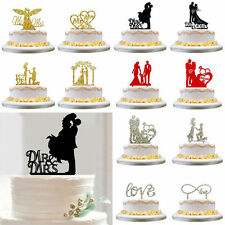 Wedding Party Mr Mrs Bride & Groom Cake Topper Anniversary Favours Decoration