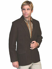 Scully Leather Mens Western Sportcoat Blazer Jacket Button Front Brown