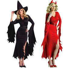 Women Gothic  Wicked Witch Cosplay Halloween Dress Costume Fancy Costumes