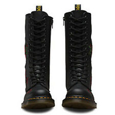 Dr. Martens Vonda 14 Eye Genuine Leather Boots Lace Up Shoes Floral Embroidered