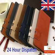 For Samsung Galaxy Models Magnetic Flip Stand Wallet Suede Leather Case