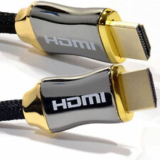 2160p 4K 3D CHROME Ultra HD HDMI Braided Cable v2.0 High Speed + Ethernet HDTV