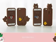 Korean 3D Cartoon Brown Bear iPhone Case For iPhone 6 6s 7 7 Plus *Great Gift*