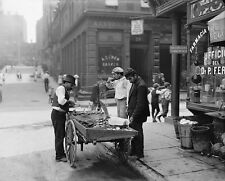 Old New York City Photo Clam Truck  Large Giclee Fine Art Photo Print 1900s