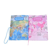 PU Leather World Map Passport Holder Travel Card Case Document Cover