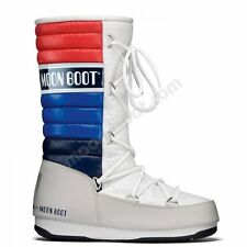 Moon Boot Womens We Quilted Moonboot in White-Blue-Red