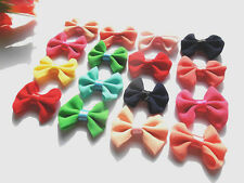 50/100pcs Chiffon bow Flower Appliques/craft/Wedding decoration
