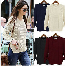 Casual Womens Long Sleeve Knitwear Jumper Cardigan Jacket Sweater Pullover Coat