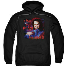 Child's Play 3 Movie Chucky TIME TO PLAY! Licensed Adult Sweatshirt Hoodie