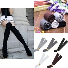 New Girls Ladies Long Cotton Stockings Women Thigh High Over The Knee Socks WY