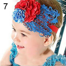 1 Pc Baby Girl Kids Infant Toddler Feather Headband Hair Band Hair Flower Beamy