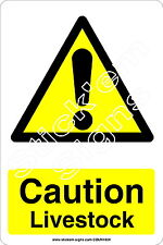 Caution Livestock - COUN1024 stickers & signs