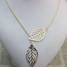 Double Leaf Pendant Necklace Casual/Dress Trendy Fashionable Sweather Length