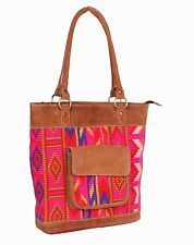 Women Ethnic Handmade Leather Crafted Carry Shopping and Shoulder Hobo Bag