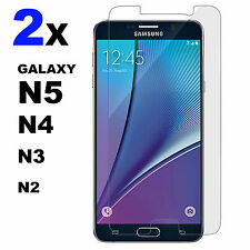 2x Anti Scratch Tempered Glass Screen Protector For Samsung Galaxy Note 2,3,4,5