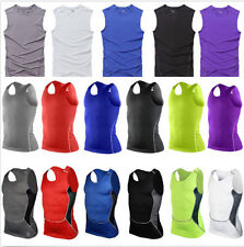 Men's Base Layer Compression Sports Under Wear Sleeveless Tank Top Vest Shirts