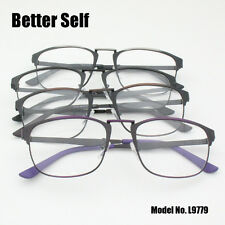Clear Lens Spectacles Metal Square Computer Glasses Men Optical Frame Eyeglasses