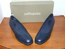 Softspots Cherie Black, Navy or Taupe Leather Slip on Dress Shoe
