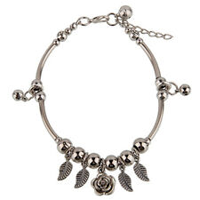 Handmade Fashion Jewelry Anklet with Small Bells and Cute Flowers - FREE V.Bag