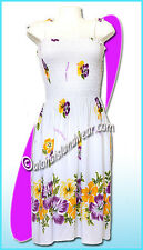 White aloha beach dress 6025