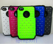 Hybrid Rugged Rubber  Hard Case Cover For apple iPhone 4G 4S Guard