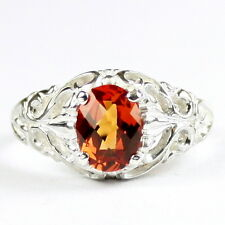 Created Padparadsha Sapphire, 925 Sterling Silver Ring, SR113-Handmade