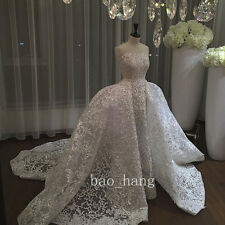 Luxury Sparkly Wedding Dresses White Ivory 2016 Strapless Bridal Gown Long Train