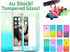 360 Full Body Hybird Protective Case For iPhone 6s 7 Plus + Tempered Glass Film