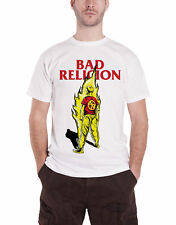 Bad Religion T Shirt Boy on Fire Suffer Band Logo Official Mens New White