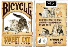 1 deck Bicycle Sweet Cat Playing Cards – Limited Edition - SEALED