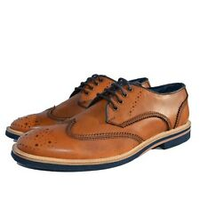 Lambretta Mens Henry Tan Leather Lace-up Brogue Shoe (21190)
