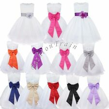 Flower Girls Kids Clothes Princess Party Wedding Tulle Tutu Costume Dresses 2-14