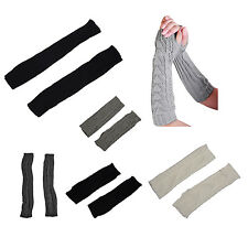 Lady Girl Stretch Weave Knit Arm Warmer E1T8
