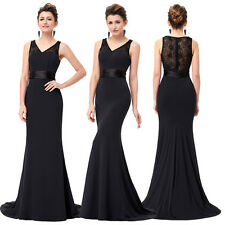 Sexy Long Lace Maxi Formal Cocktail Evening Ball Gown Wedding Party Prom Dress 0