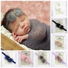 Infant Baby Girl Faux Mink Fur Headband Hair Band Hair Accessories Photo Props