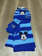 Lot Mickey Mouse knit hat Children winter knitted  scarf gloves hat set R338