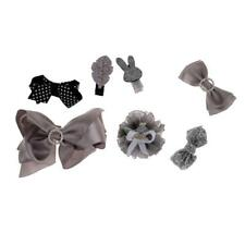 7 Pieces Baby Hair Clips Bows Accessories Barrettes Girls Shower Gifts