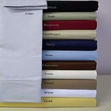 6pc Bedding Sheet Set 1200 TC Egyptian Cotton US -Twin Size All Solid Color