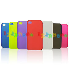 BRAND NEW PLASTIC MATTE HARD BACK COVER CASE FOR IPHONE 4 / 4S
