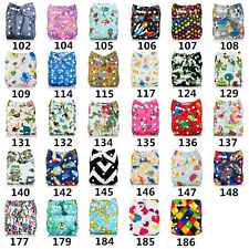 Washable Baby Cloth Diaper Cover Waterproof Baby Diapers Cloth Nappy + 1 Insert