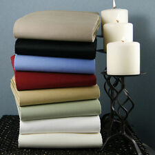 1200TC 100%Egyptian Cotton 3 PC Fitted Sheet Set US-Size All Solid/Stripe Colors