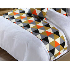 Bed Runner Geometric Style Hotel Bed Protective Cover Pillowcase Home Supplies