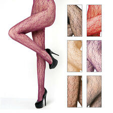 Womens One Size Spirograph Pattern Fishnet Pantyhose Tight Stocking Multi Colors