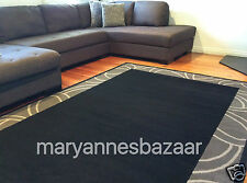 Extra Large Floor Rug Black Grey Modern FREE DELIVERY TO ANYWHERE IN AUSTRALIA